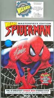 Spider-man Wizard Masterpiece Hardcover Graphic Novel Signed Stan Lee COA Ltd 50 Marvel Comics